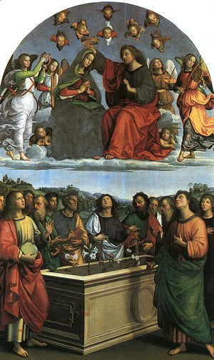 Raphael - Coronation of the Virgin (Oddi Altarpiece) 1502-03