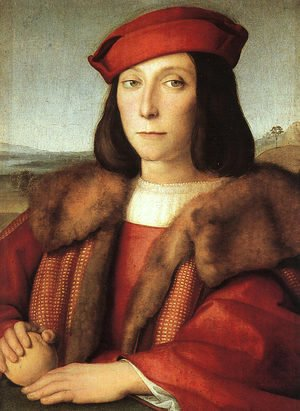 Portrait of a Man with an Apple (possibly Francesco Maria della Rovere) 1503-04