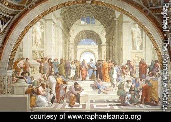 Raphael - The School of Athens (from the Stanza della Segnatura) 1510-11