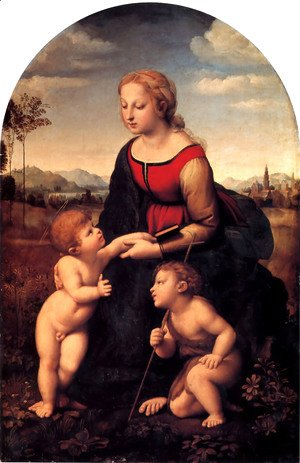Raphael - The Virgin and Child with Saint John the Baptist (La Belle Jardiniere) 1507