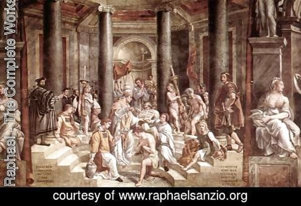 Raphael - The Baptism of Constantine