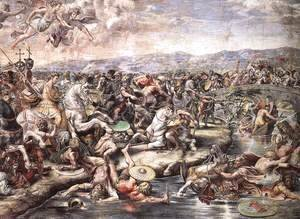 Raphael - The Battle at Pons Milvius [detail: 1]