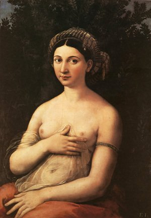 Raphael - Portrait of a Young Woman (or La Fornarina)