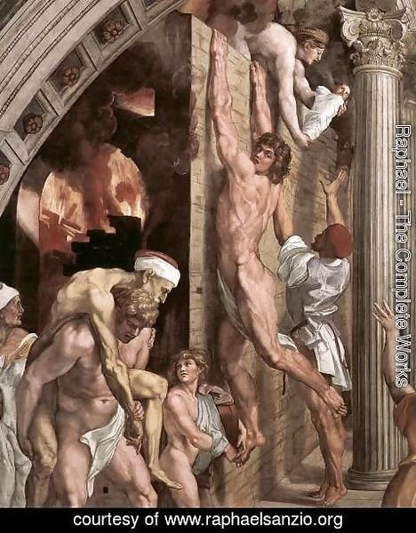 Raphael - The Fire in the Borgo [detail: 1]