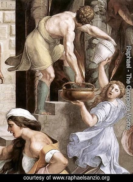 Raphael - The Fire in the Borgo [detail: 2]