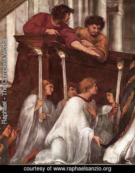 Raphael - The Mass at Bolsena [detail: 1]