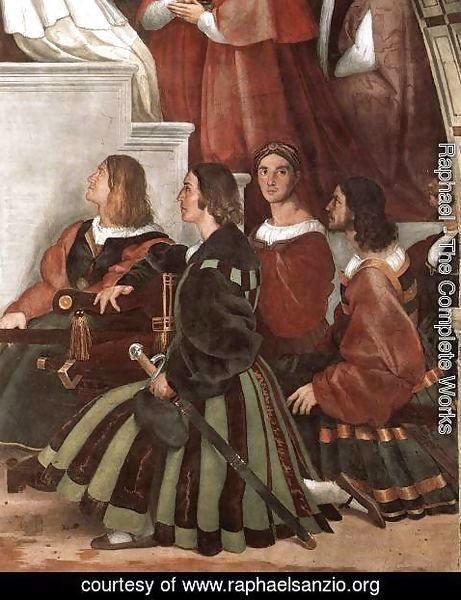 Raphael - The Mass at Bolsena [detail: 2]