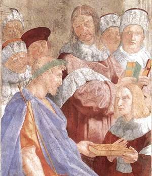 Raphael - Justinian Presenting the Pandects to Trebonianus [detail: 1]