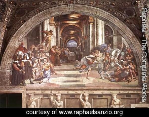 Raphael - The Expulsion of Heliodorus from the Temple