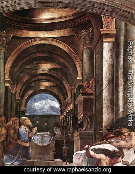 Raphael - The Expulsion of Heliodorus from the Temple [detail: 2]
