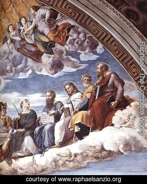 Raphael - Disputation of the Holy Sacrament (La Disputa) [detail: 10]