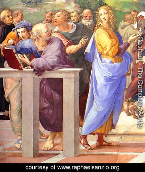 Raphael - Disputation of the Holy Sacrament (La Disputa) [detail: 10a]