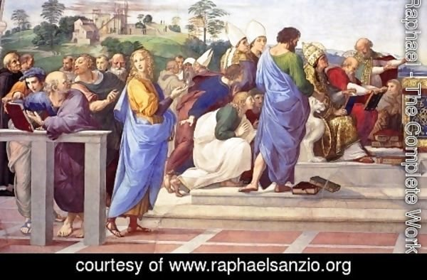 Raphael - Disputation of the Holy Sacrament (La Disputa) [detail: 11]