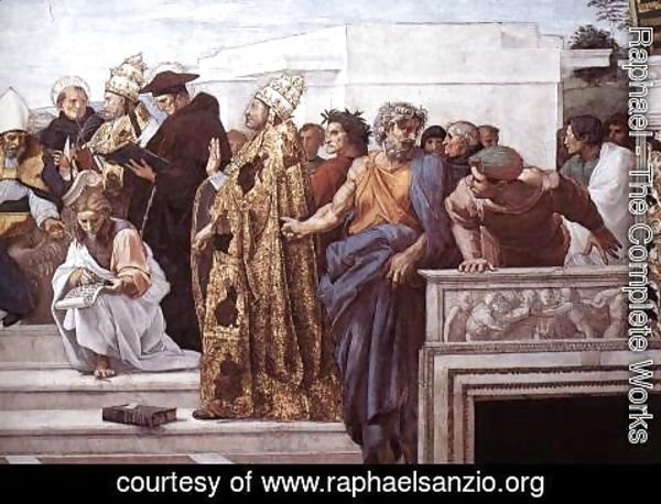 Raphael - Disputation of the Holy Sacrament (La Disputa) [detail: 13]
