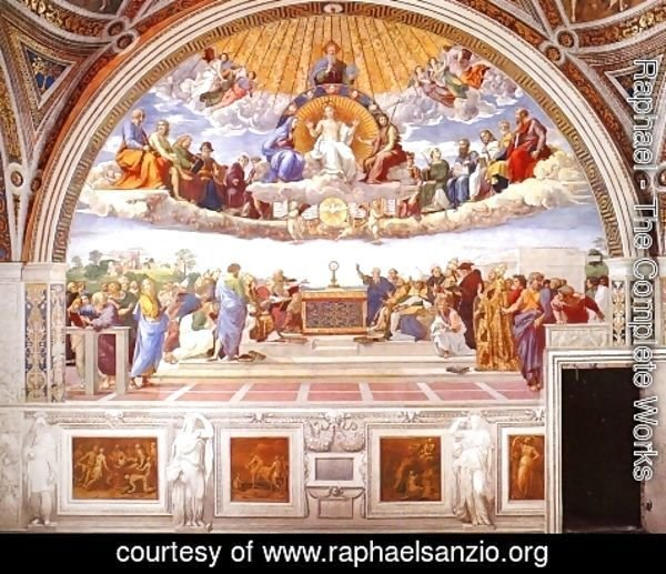Raphael - Disputation of the Holy Sacrament (La Disputa) [detail: 1a]