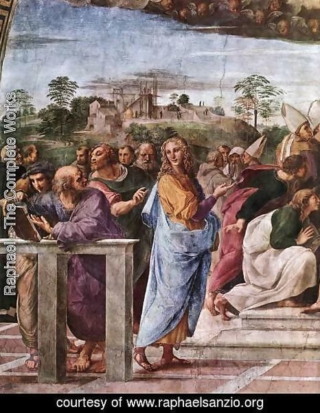 Raphael - Disputation of the Holy Sacrament (La Disputa) [detail: 2]