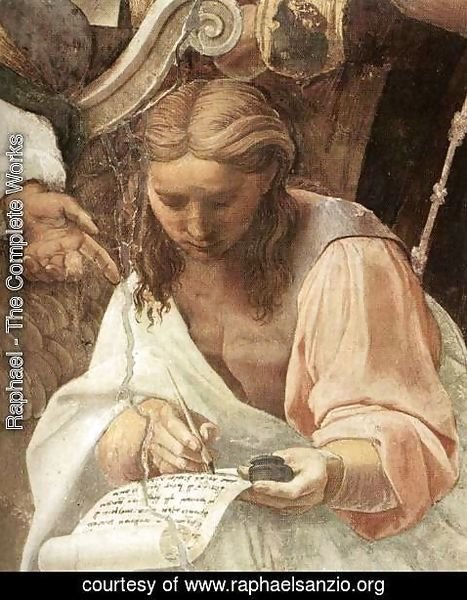 Raphael - Disputation of the Holy Sacrament (La Disputa) [detail: 7]
