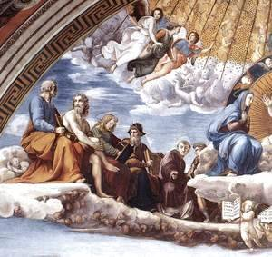 Raphael - Disputation of the Holy Sacrament (La Disputa) [detail: 9]