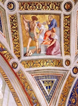 The Stanza della Segnatura Ceiling: The Judgment of Solomon [detail: 2]