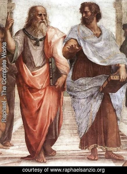 Raphael - The School of Athens [detail: 1]