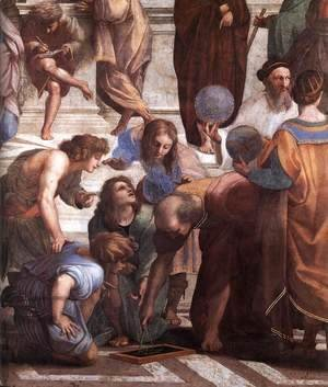 Raphael - The School of Athens [detail: 3]