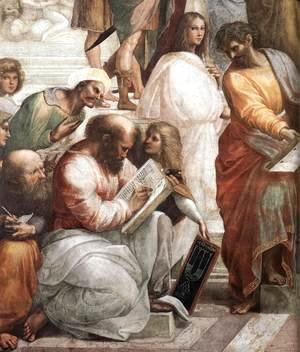Raphael - The School of Athens [detail: 4]