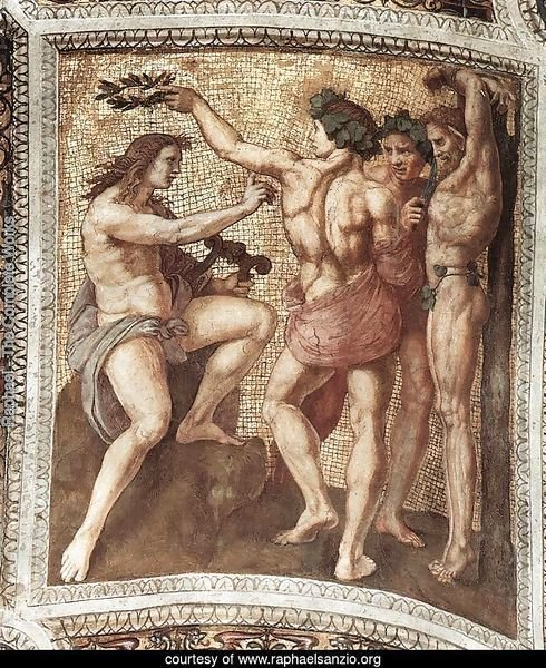 The Stanza della Segnatura Ceiling: Apollo and Marsyas