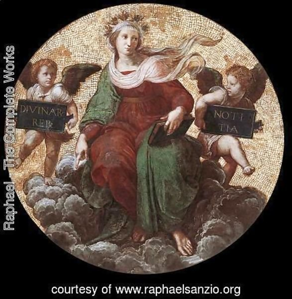 Raphael - The Stanza della Segnatura Ceiling: Theology