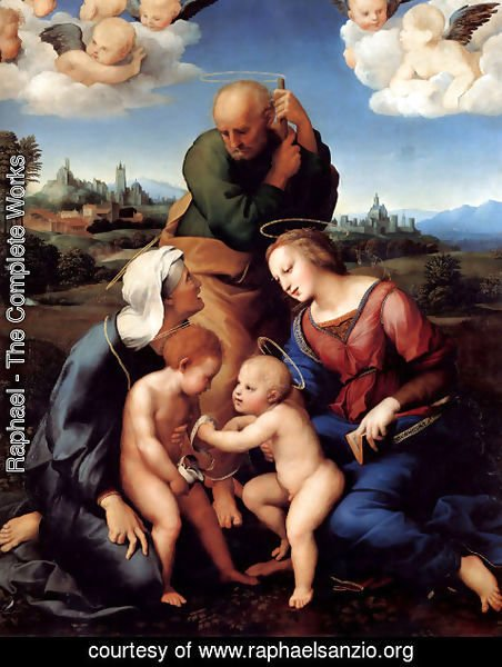 Raphael - The Holy Family with Saints Elizabeth and John (or The Canigiani Holy Family)