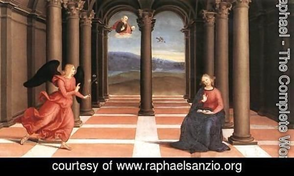 Raphael - The Annunciation (Oddi altar, predella)