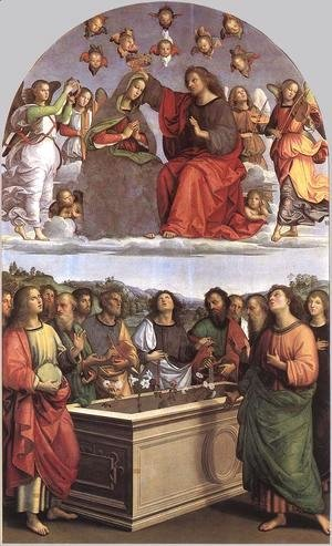 Raphael - The Crowning of the Virgin (Oddi altar)