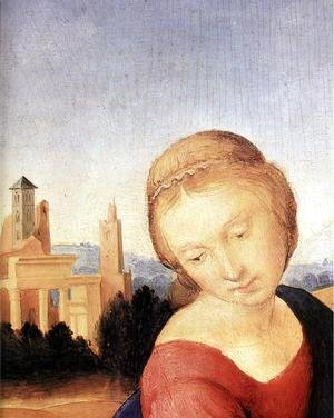 Raphael - Madonna and Child with the Infant St John (detail)