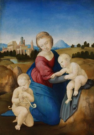 Raphael - Madonna and Child with the Infant St John