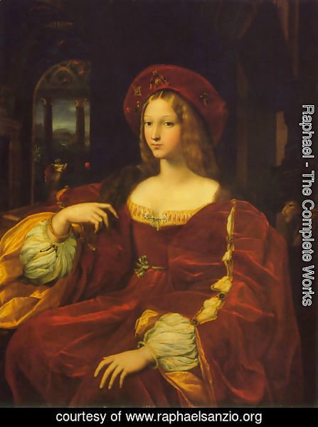 Raphael - Portrait of Jeanne d'Aragon