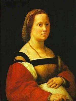 Raphael - Portrait Of A Pregnant Woman 1506