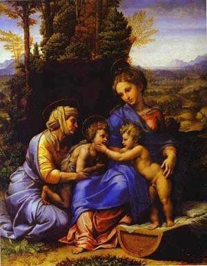 Raphael - The Holy Family Known As Little Holy Family