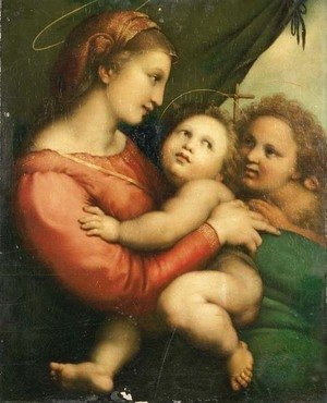 Raphael - The Madonna and Child with the Infant Saint John the Baptist 2