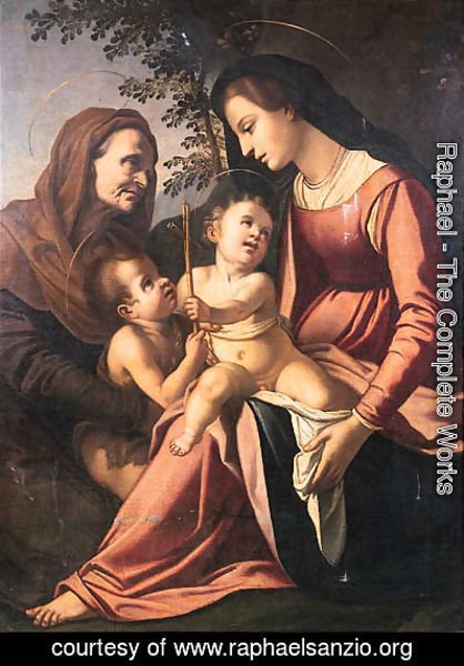 Raphael - The Madonna and Child with the Infant Saint John the Baptist and Saint Elizabeth