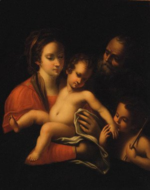Raphael - The Holy Family with the Infant Saint John the Baptist 2