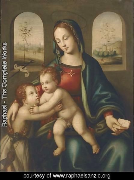Raphael - The Madonna and Child with the Infant Saint John the Baptist 3