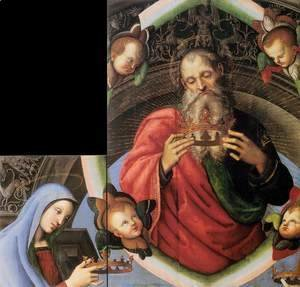Raphael - God the Father and the Virgin Mary (fragments of the Baronci Altarpiece)