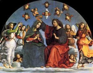Raphael - The Crowning of the Virgin (detail)