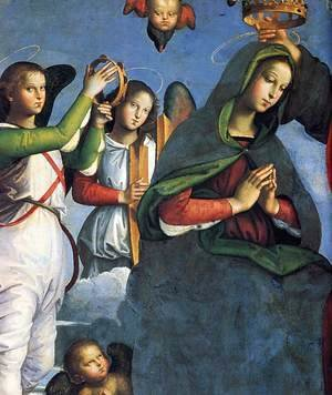 Raphael - The Crowning of the Virgin (detail) 3