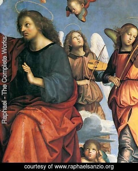 Raphael - The Crowning of the Virgin (detail) 4
