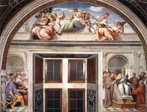 Raphael - View of the south wall