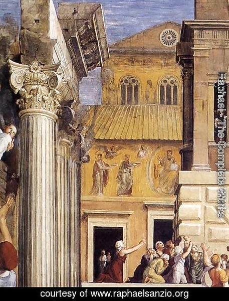 Raphael - The Fire in the Borgo (detail) 2