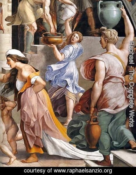 Raphael - The Fire in the Borgo (detail) 4