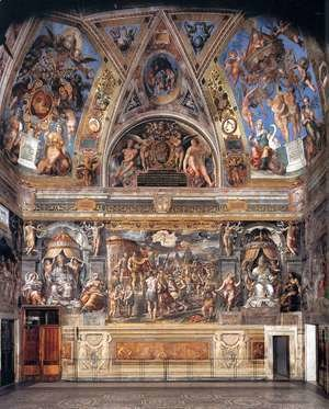 Raphael - View of the Sala di Constantino