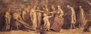 Raphael - Laying the Foundation for the Old Saint Peter's Basilica
