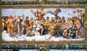 Raphael - Wedding Banquet of Cupid and Psyche 2